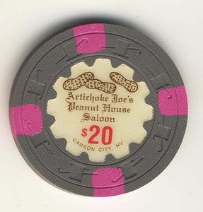 Artichoke Joes Casino Peanut house Saloon $20 Chip