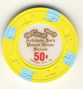 Artichoke Joes Peanut house Saloon 50cent chip
