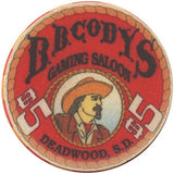 B.B. Cody's Casino $5 (Cowboy) Chip - Spinettis Gaming - 1