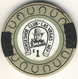 HorseShoe Club $1 (beige-horse shoe) chip
