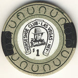 HorseShoe Club $1 (beige-horse shoe) chip - Spinettis Gaming - 1