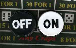 Craps ON/OFF Puck - Spinettis Gaming - 1