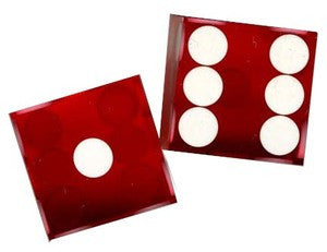 NEW RED CASINO DICE Precision Cut, Stick of 5 - Spinettis Gaming - 2