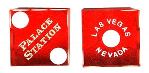 Palace Station Used Casino Dice, Pair - Spinettis Gaming - 1