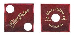 River Palms Used Casino Dice, Pair - Spinettis Gaming - 1