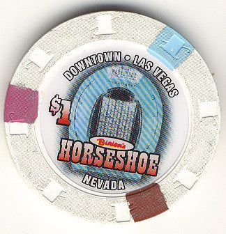 HorseShoe Club $1 (white) chip - Spinettis Gaming - 1