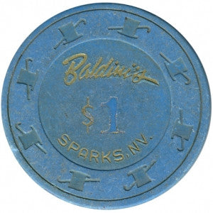 Baldini's $1 blue Hot Stamped chip, Sparks NV