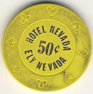 Hotel Nevada 50cent (yellow) chip