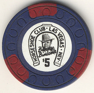 HorseShoe Club $5 (blue) chip - Spinettis Gaming - 1
