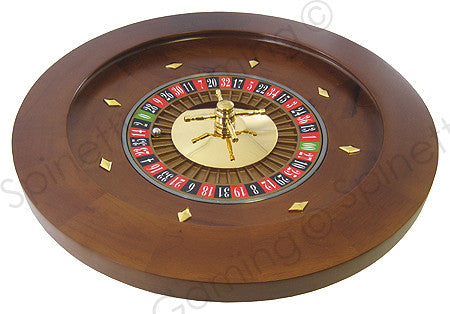 "18"" Solid Wood Las Vegas Casino Style Roulette Wheel"