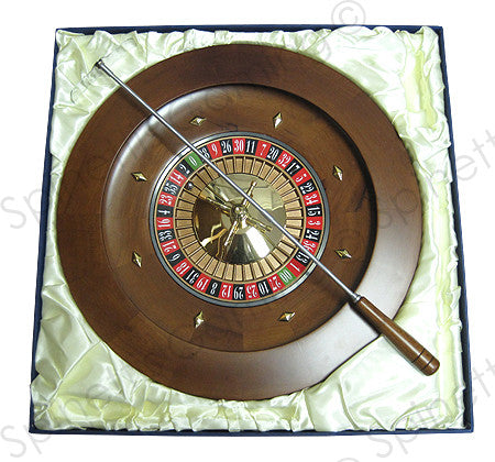 "18"" Solid Wood Las Vegas Casino Style Roulette Wheel - Spinettis Gaming - 3"