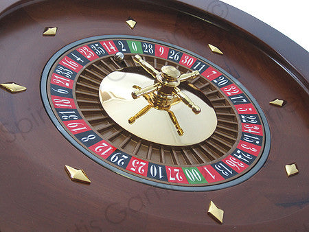 "18"" Solid Wood Las Vegas Casino Style Roulette Wheel - Spinettis Gaming - 2"