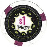 Plaza Hotel, Las Vegas NV (#2) $1 Casino Chip - Spinettis Gaming - 2
