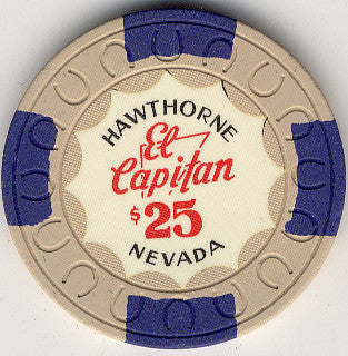 El Capitan $25 (white ) Chip - Spinettis Gaming - 1