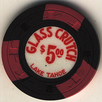 Glass Crutch Casino Stateline NV $5 Chip 1965