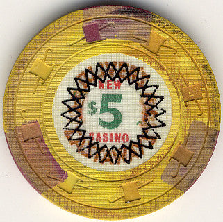 Oliver's New Castaway Casino Las Vegas NV Cancelled $5 Chip 1967