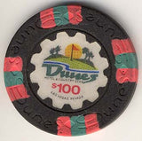 Dunes Casino $100 (golf course) chip (circulated) - Spinettis Gaming