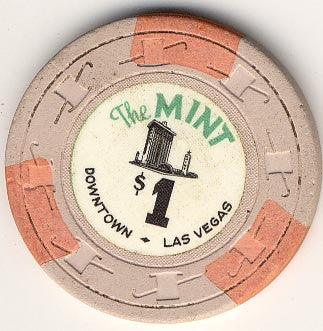 The Mint Casino Las Vegas $1 (beige) chip circulated