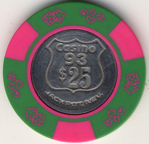 Casino 93 $25 (green1980s) Chip - Spinettis Gaming - 1