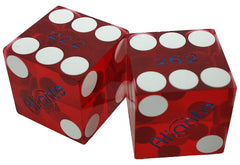 Aliante Used Casino Red Dice, One Pair - Spinettis Gaming - 1