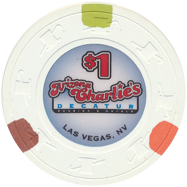 Arizona Charlie's (Decatur) Las Vegas, NV (Small Inlay) $1 Casino Chip