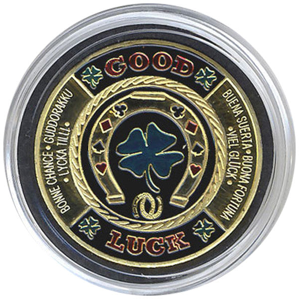 Card Guard Horseshoe & Clover Leaf (Good Luck) Card Guard - Spinettis Gaming - 4