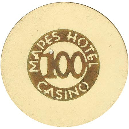 Mapes Casino 100 (beige) chip - Spinettis Gaming - 2