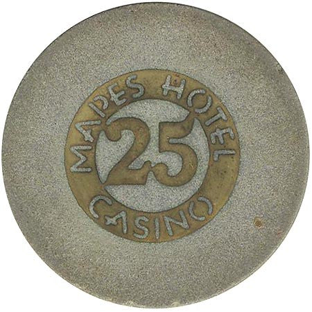 Mapes Casino Reno NV $25 Chip 1948