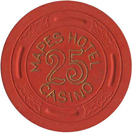 Mapes Casino 25 (red) chip