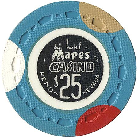 Mapes Casino Reno NV $25 Chip (Turquoise) 1969