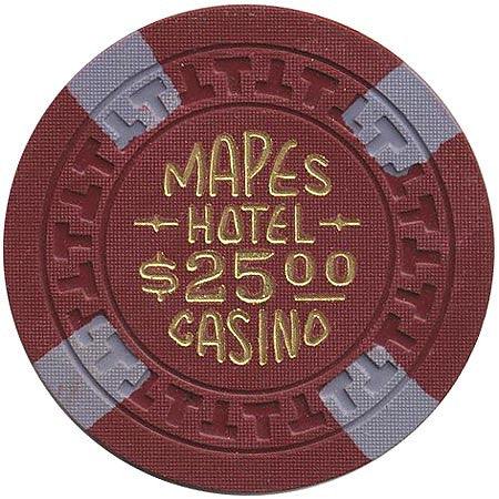 Mapes Casino Reno NV $25 Chip 1950s