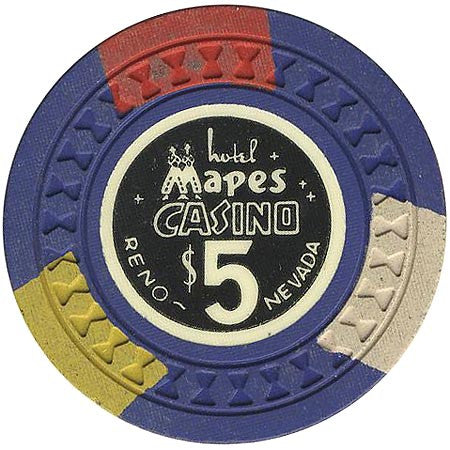 Mapes Casino $5 (blue) chip