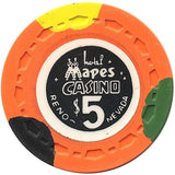 Mapes Casino $5 (bright-orange) chip - Spinettis Gaming