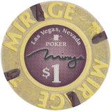 Mirage Casino, Las Vegas NV (Poker Room) $1 Casino Chip - Spinettis Gaming