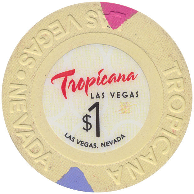 Tropicana (Small Inlay), Las Vegas NV $1 Casino Chip