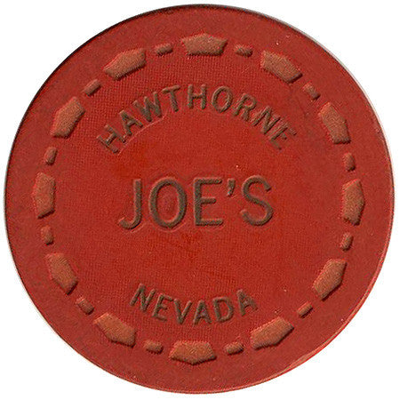 Joe's Casino Hawthorne NV 25 Cent Chip 1965