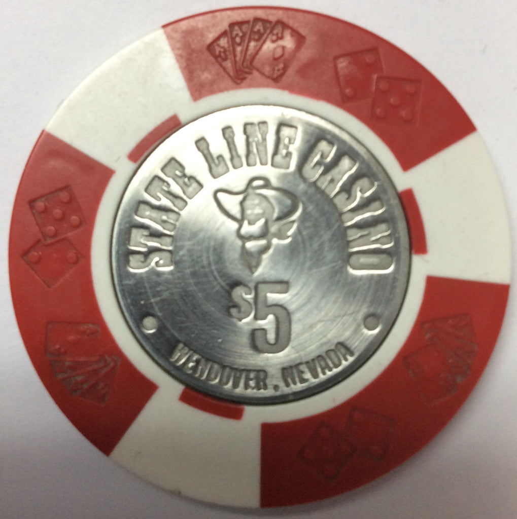 State Line Casino Wendover $5 chip incused 1967