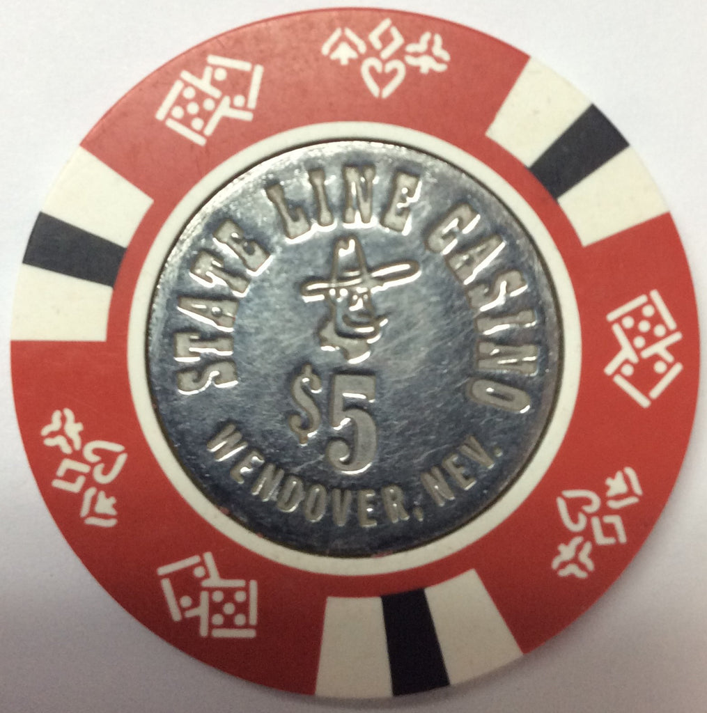 State Line Casino Wendover $5 chip incused 1980