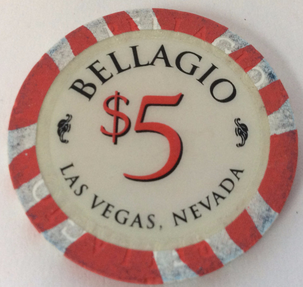Bellagio Casino Las Vegas $5 Chip 1998