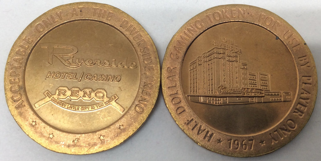 Riverside Hotel / Casino Reno Half Dollar Gaming Token 1967