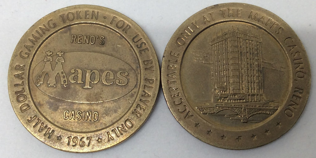 Mapes Casino Reno 50 Cent Gaming Token 1967