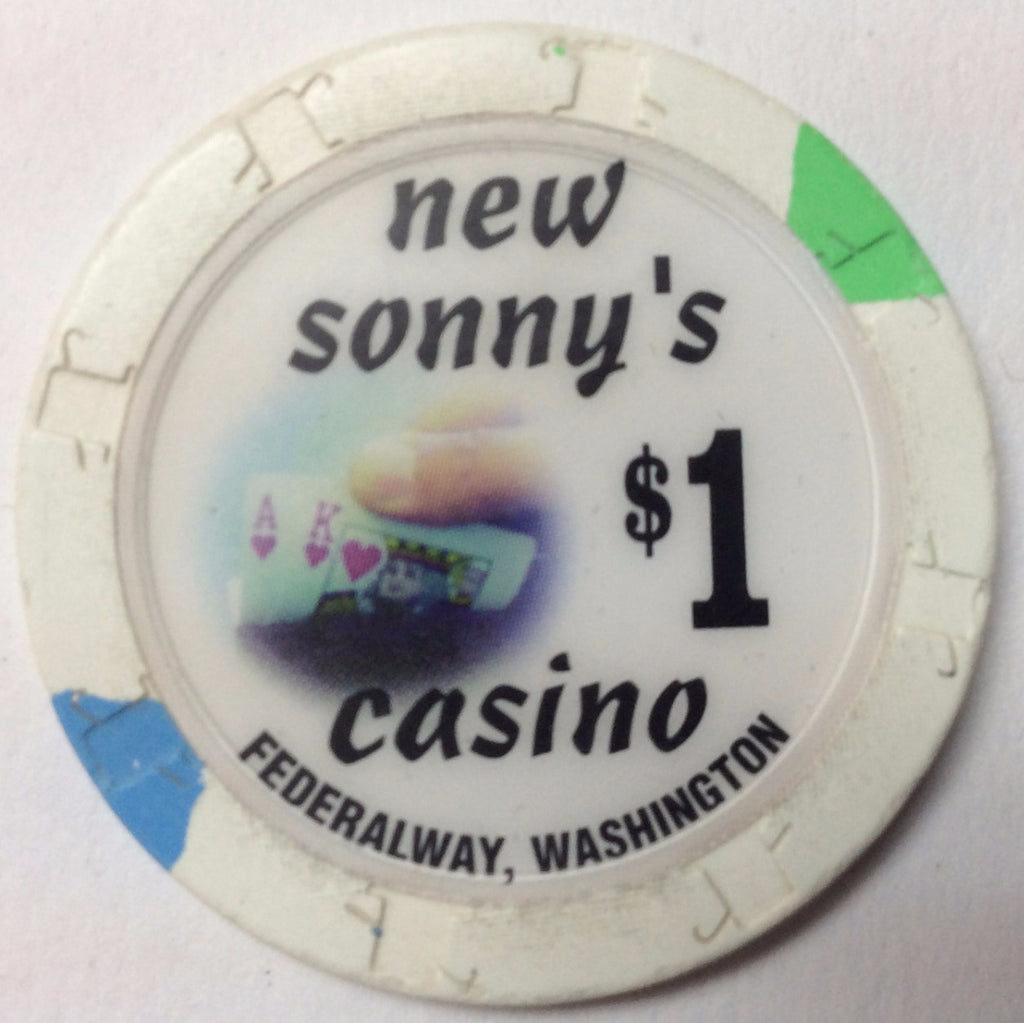 New Sonny's Casino $1 Chip Washington