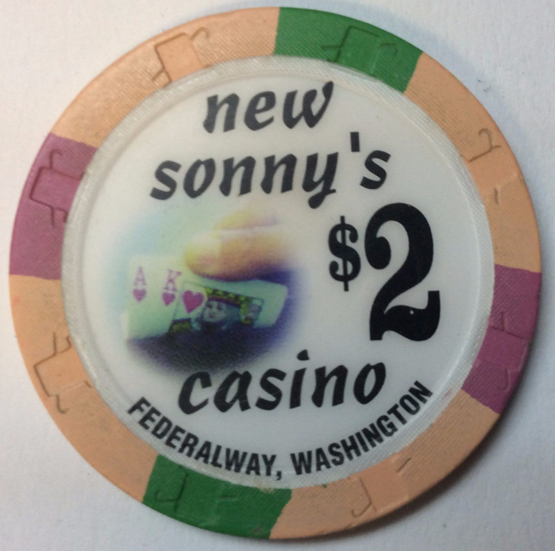 New Sonny's Casino $2 Chip Washington - Spinettis Gaming