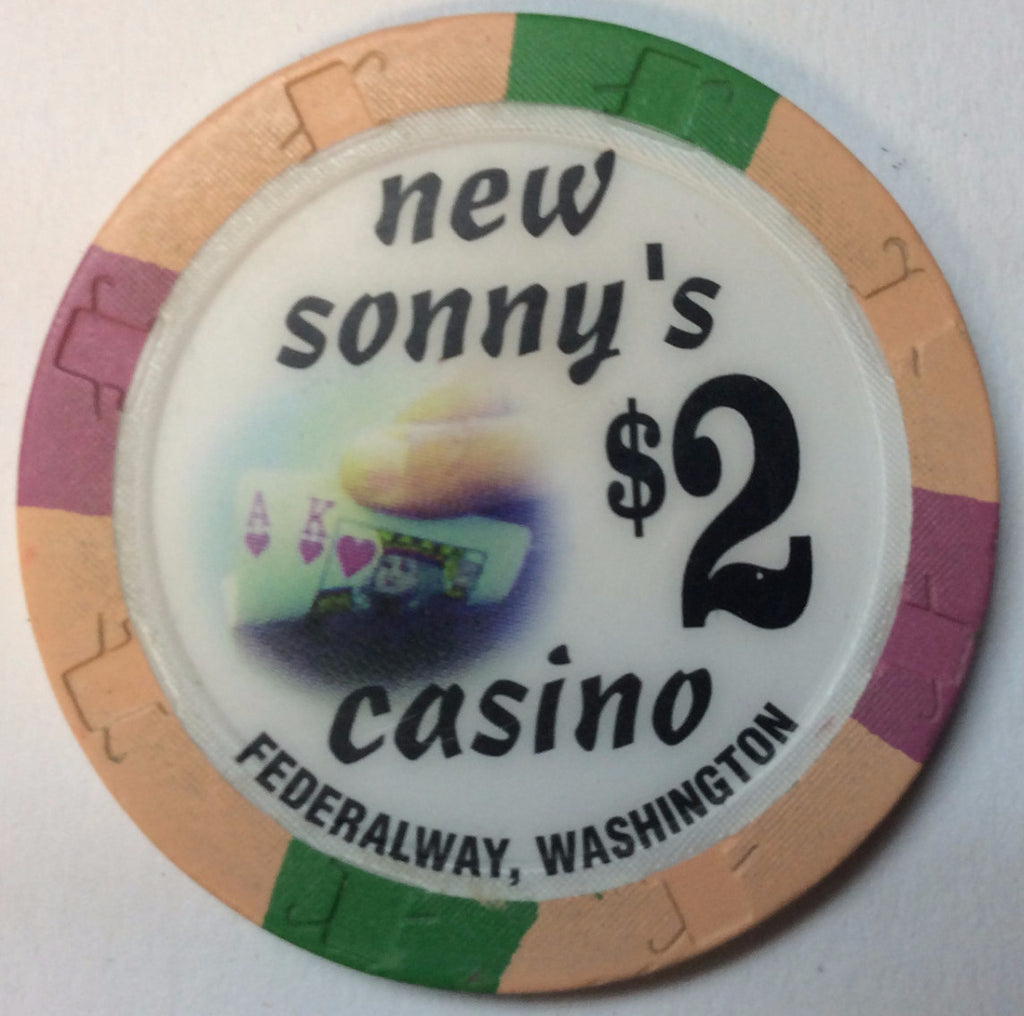 New Sonny's Casino $2 Chip Washington