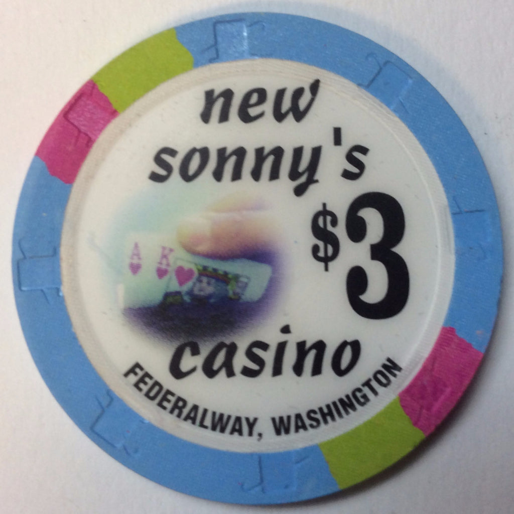 New Sonny's Casino $3 Chip Washington