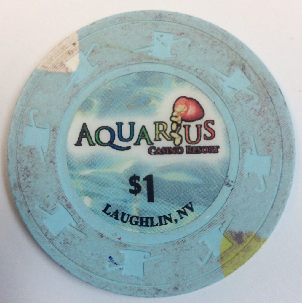 Aquarius Casino Laughlin $1 Chip (Small Inlay)