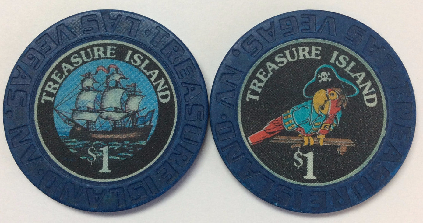 Treasure Island Casino Las Vegas $1 chip 1993 - Spinettis Gaming - 1