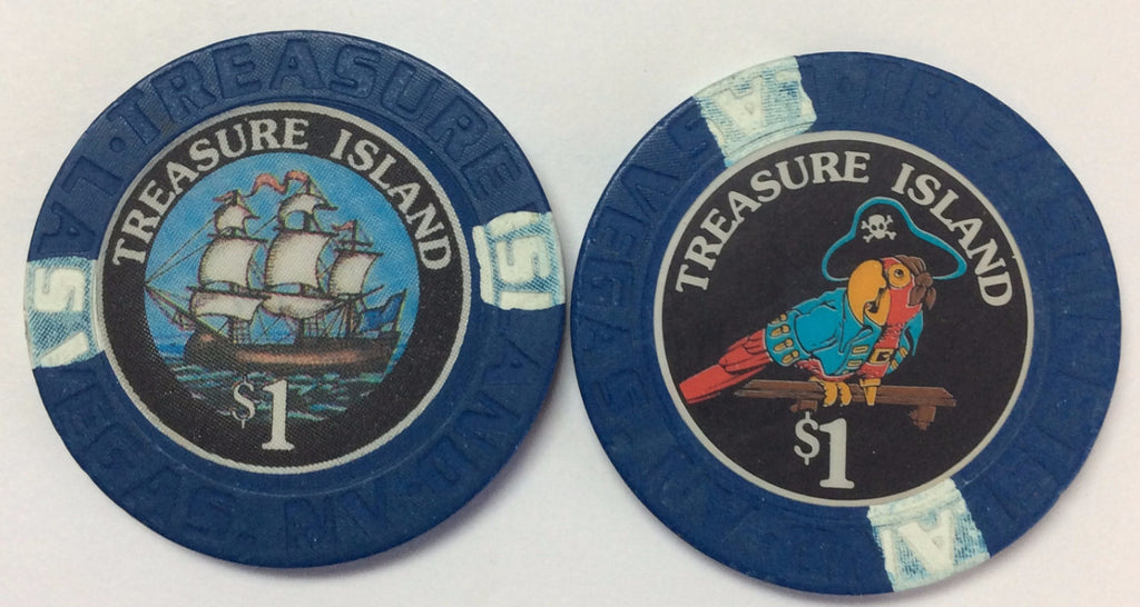 Treasure Island Casino Las Vegas $1 chip 1990s