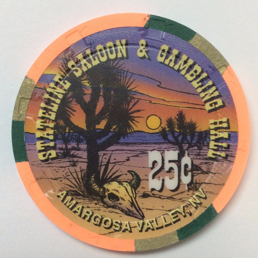 Stateline Saloon & Gambling Hall Amargosa Valley 25cent chip