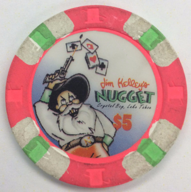 Nugget Jim Kelley's Casino Crystal Bay $5 (pink) chip - Spinettis Gaming - 2